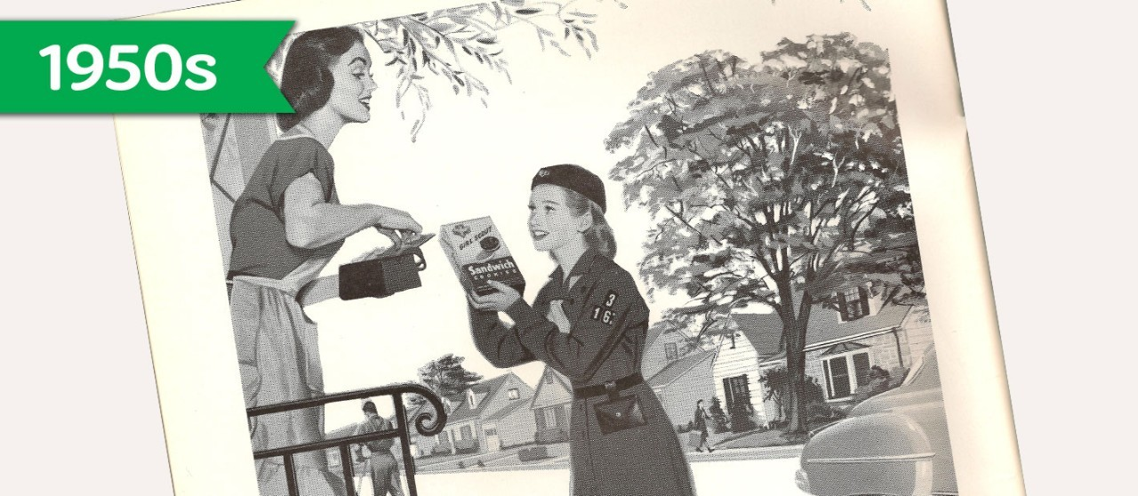 Girl Scout Cookie History - 1950s