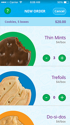 picture relating to Girl Scout Cookies Order Form Printable named Electronic Purchase Card - Female Scout Cookies
