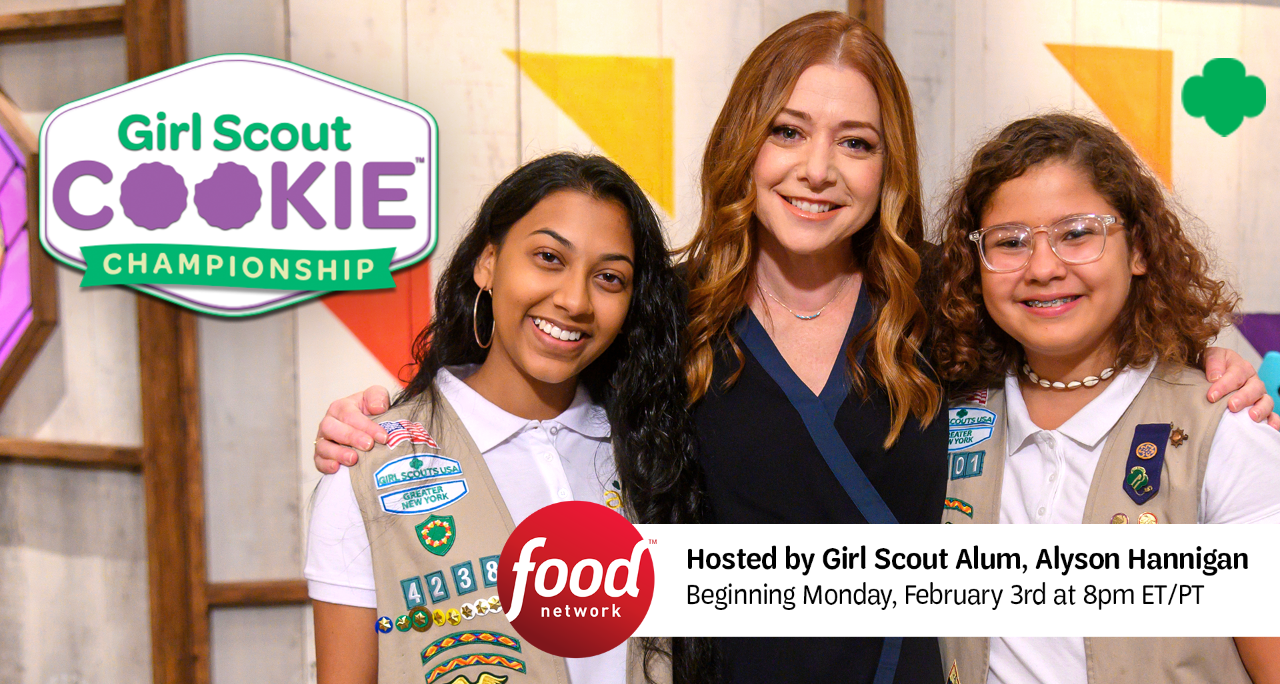 Girl Scout Cookie Championship - Hosted by Girl Scout Alum Alyson Hannigan, beginning Monday February 3 at 8pm ET/PT