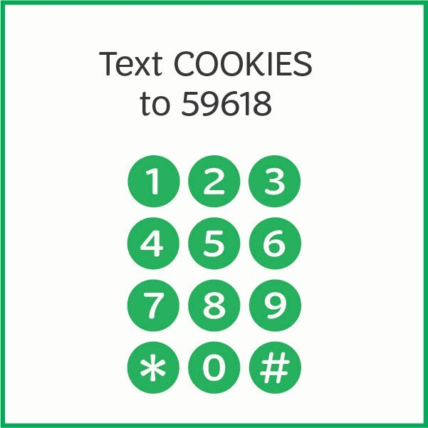 Text COOKIES to 59618