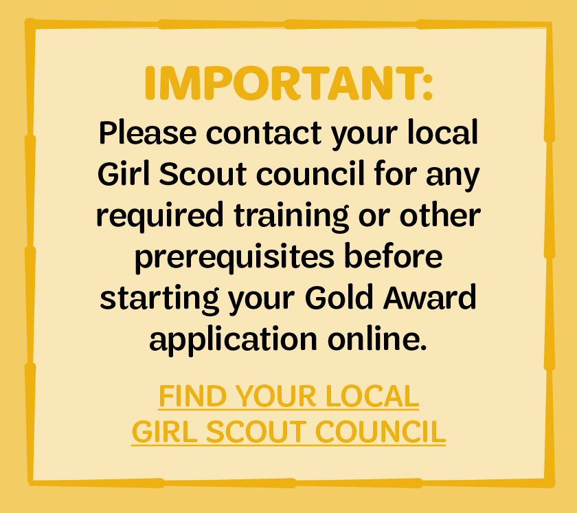 Gold Award - Girl Scouts