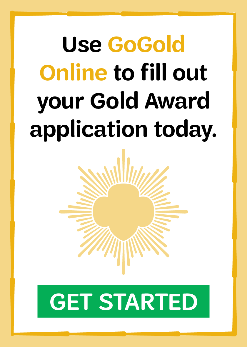 Use GoGold Online to fill out your Gold Award application today. GET STARTED