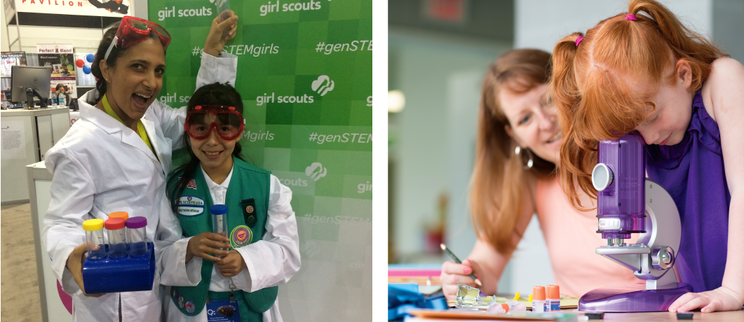 At Girl Scouts, everything she'll do is designed with, by, and for girls. How awesome is that?