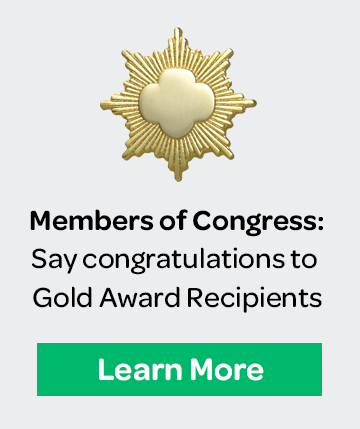 Say congratulations to Gold Award recipients