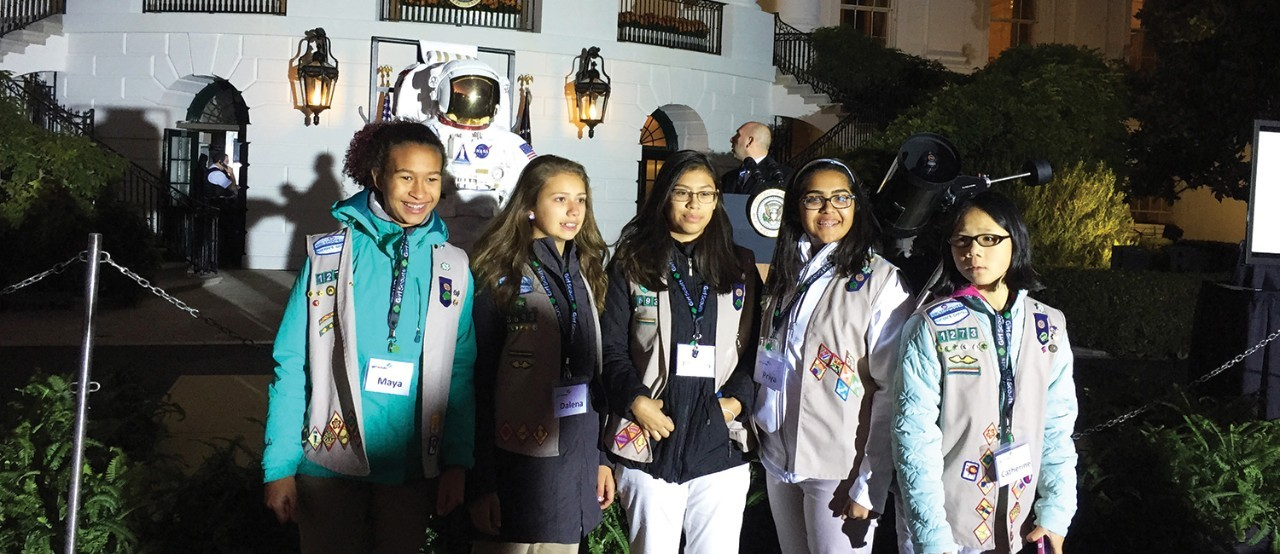 Girl Scouts shoot for the stars at White House Astronomy Night