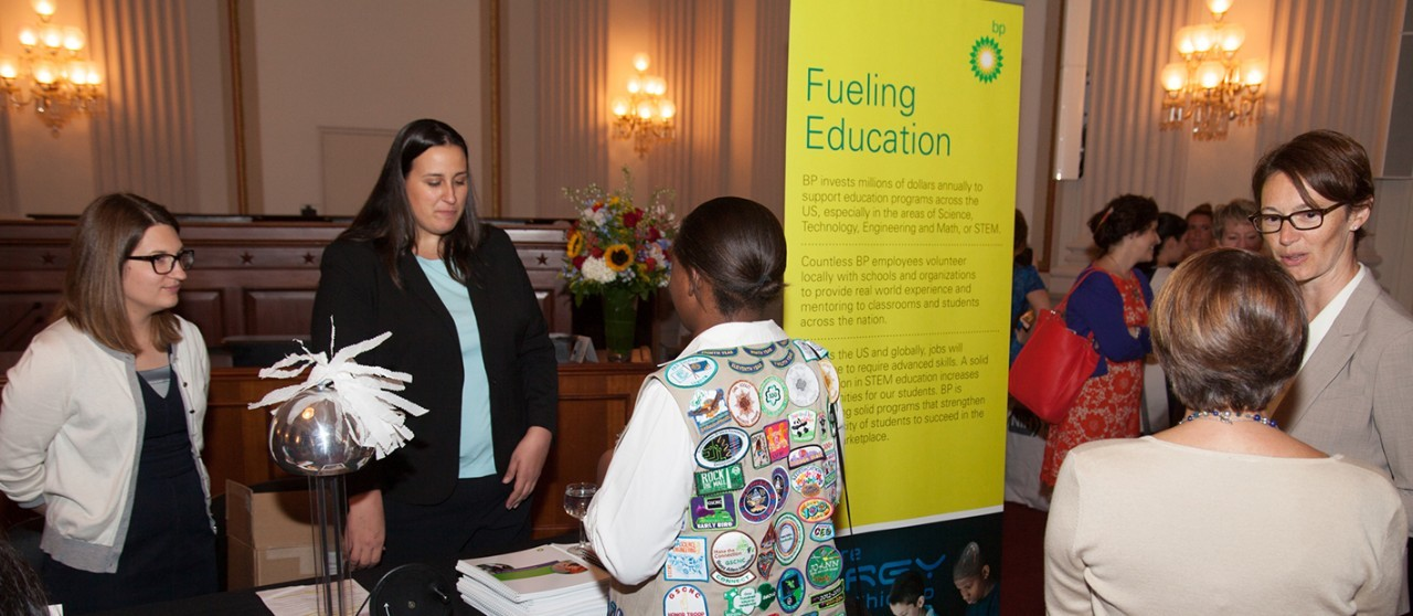Girl Scouts at the STEM Fair on Capitol Hill