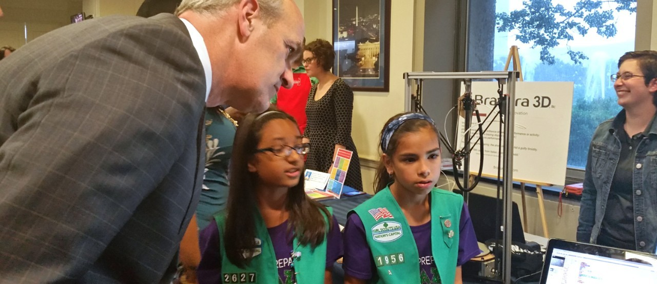 Girl Scouts Tinkered Away at the 2nd Annual Capitol Hill Maker Faire