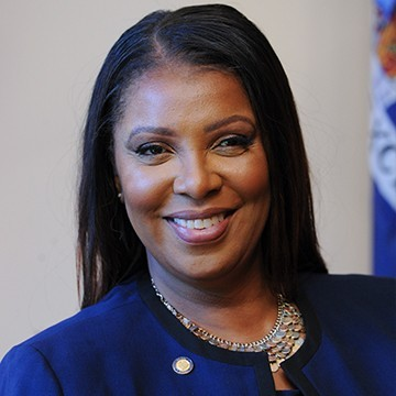 Attorney General Letitia James, Attorney General for the State of New York