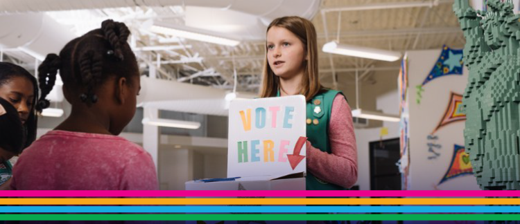 Girl Scouts learn to stand up for what they believe in, identify issues they care about, and take the lead like a G.I.R.L. to make the world a better place.