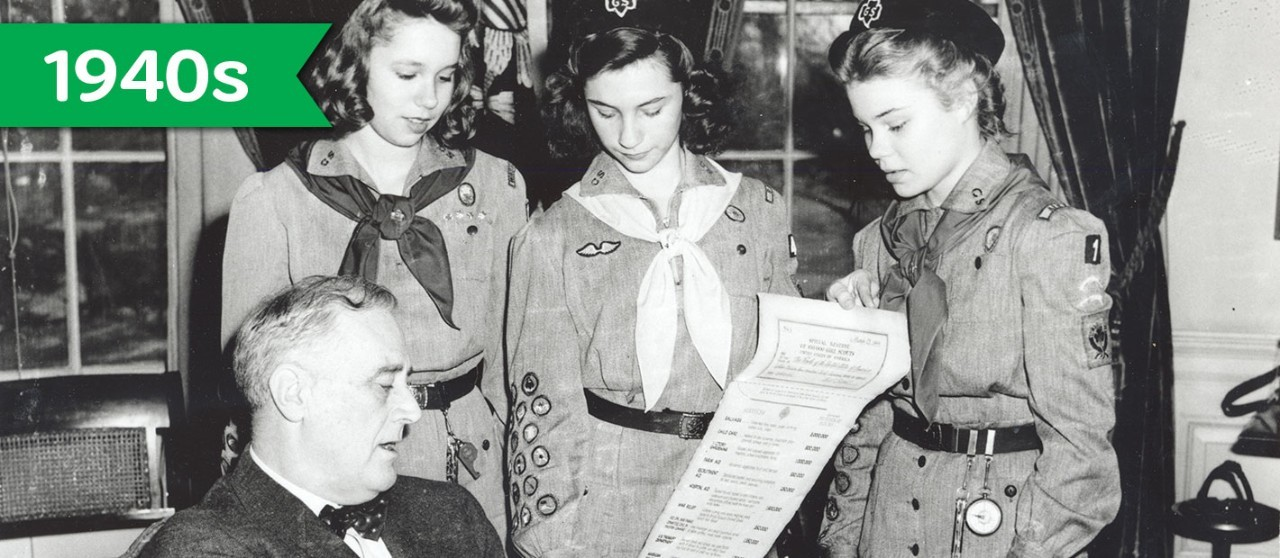 Girl Scouts in the 1940s