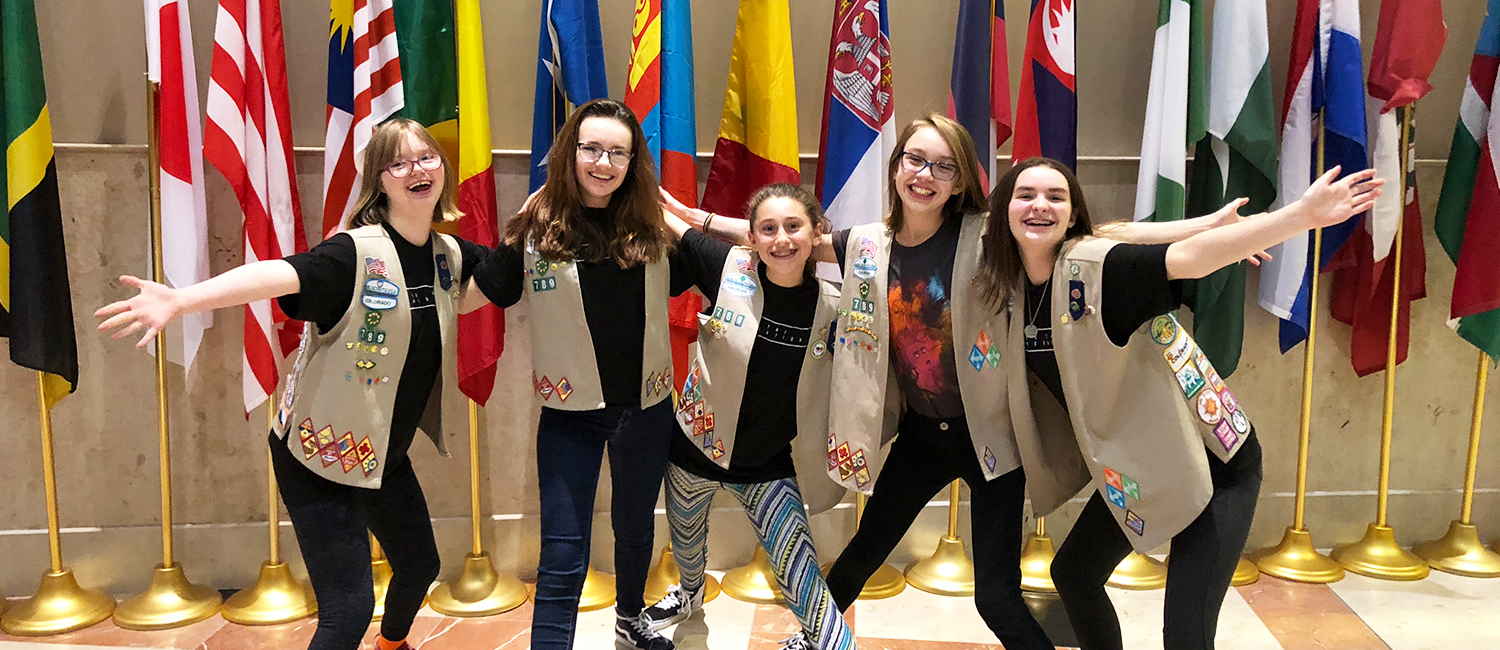 Sofia, Micaela, Julianna, Amelia, Makenna celebrate the passing of their ordinance at City Hall on February 5, 2018.