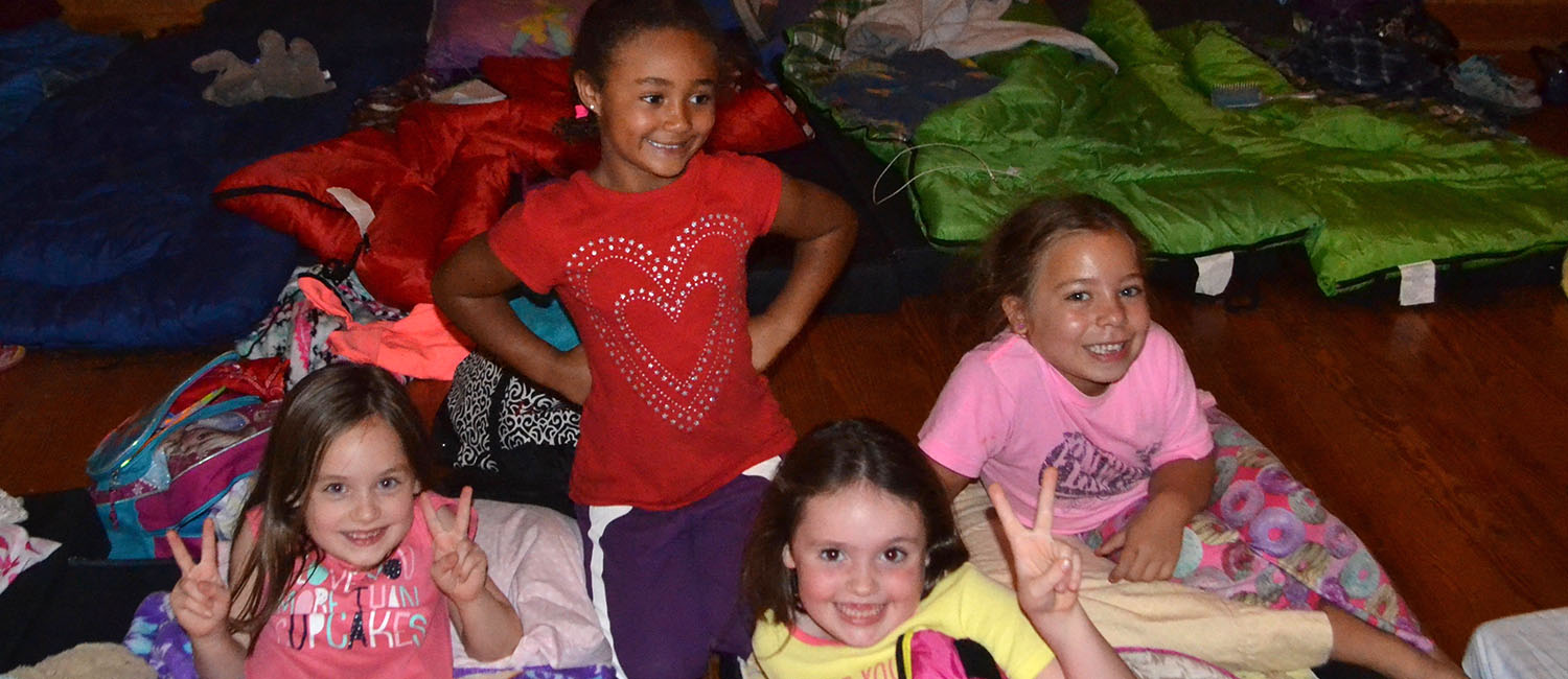 Troop #4890 loves camping and sleepovers!