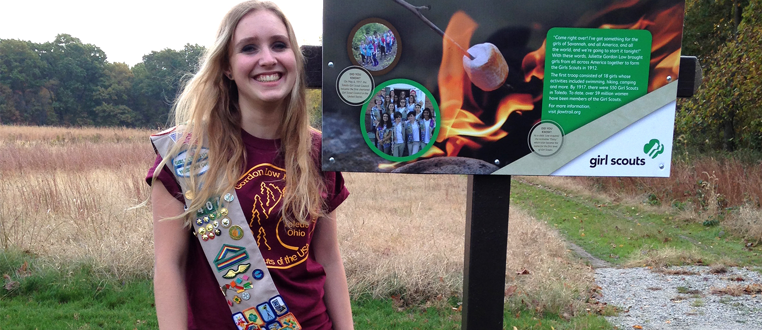 gold award girl scout paves a new path   girl scouts
