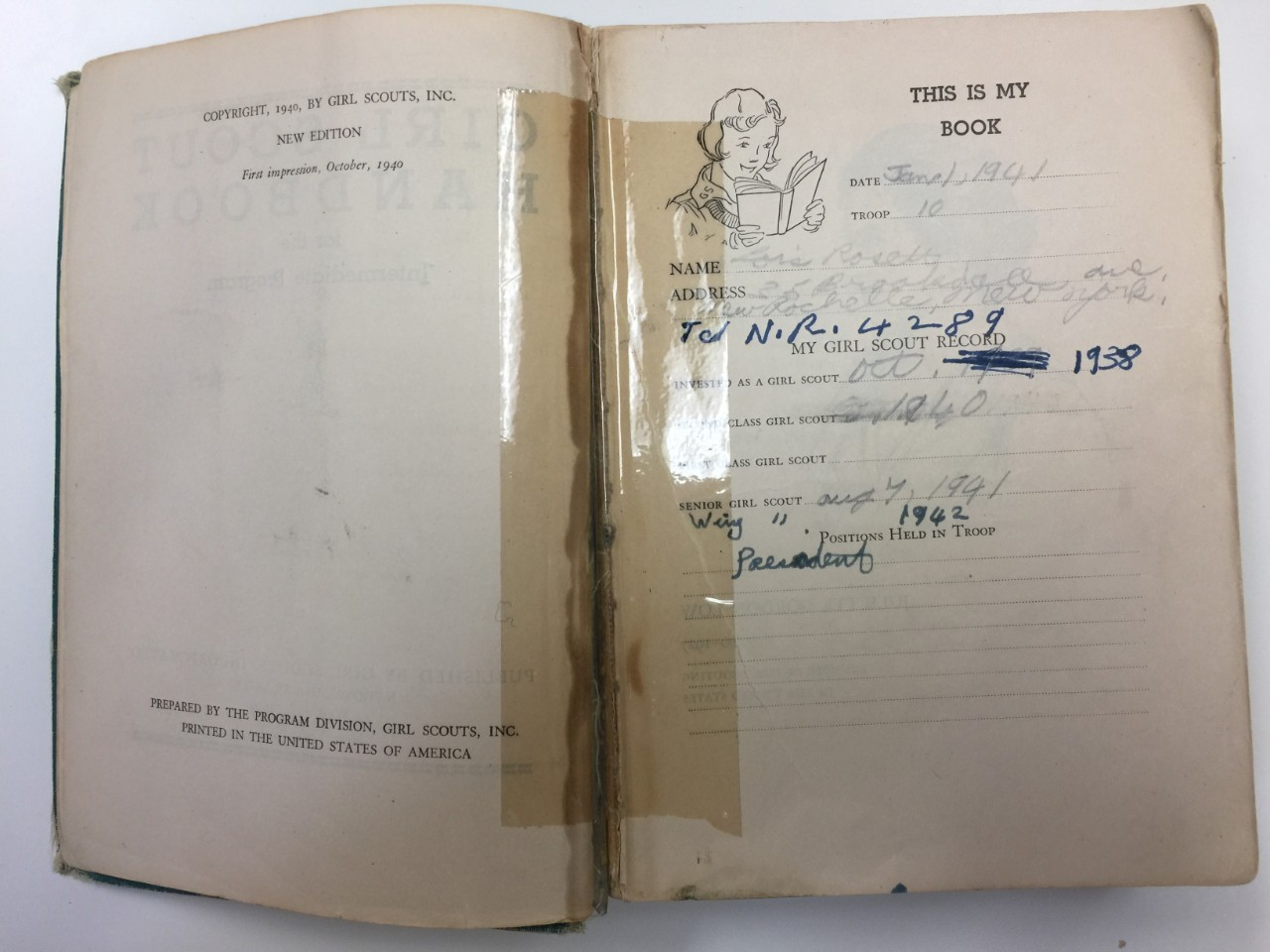 This is my book (handwritten notes 1938-42)