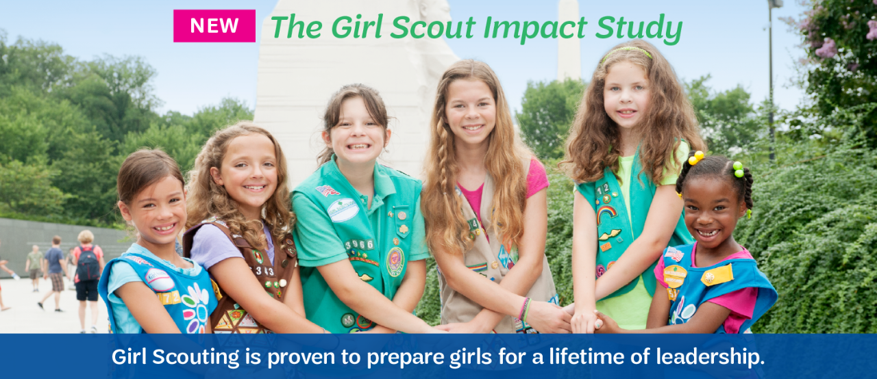 NEW! The Girl Scout Impact Study: Girl Scouting is proven to prepare girls for a lifetime of leadership.