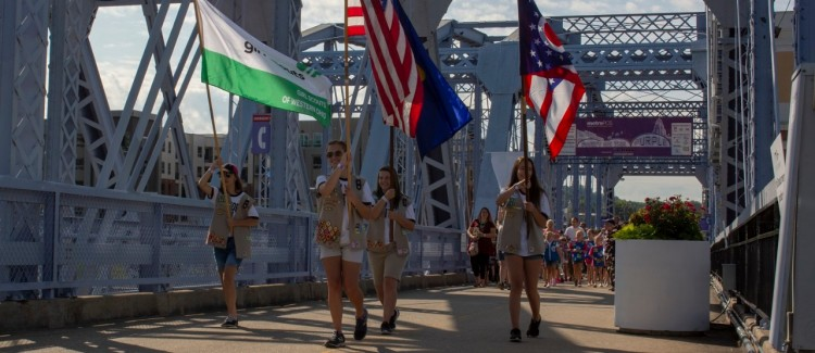 Girl Scout bridging ceremony