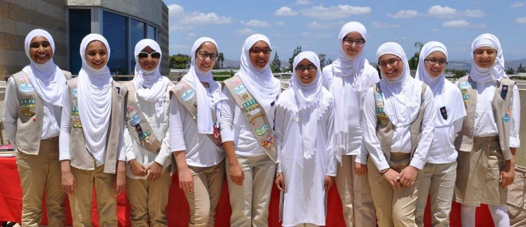 Girl Scouts of the Muslim Faith host an Open Mosque Day in Orange County, California