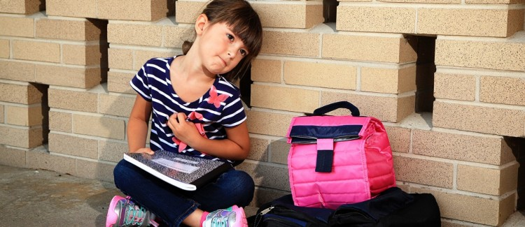 Little girl feels nervous about starting kindergarten
