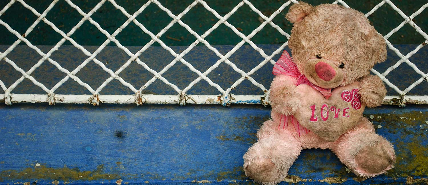 sad teddy bear because families have been separated at the border