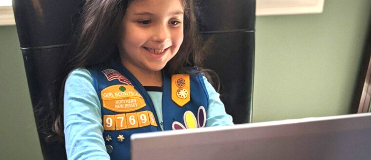 Girl Scout virtual troop meeting