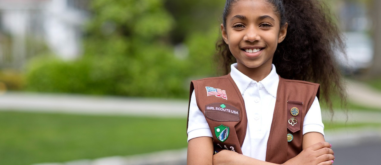 Girl Scout Brownie ready to change the world!