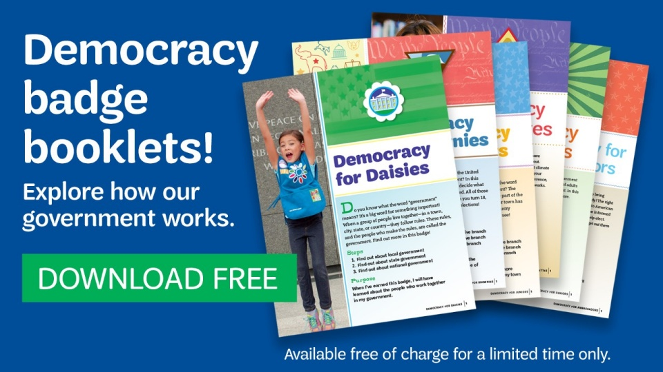 Democracy Badge Booklets are here