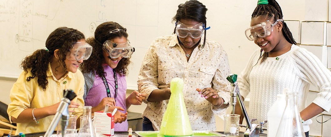 Girl Scout Cadettes explore science to become better problem-solvers and critical thinkers.