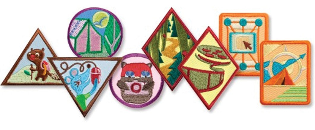 photo relating to Printable List of Merit Badges referred to as Awards and Badges - Female Scouts