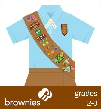Brownies: Where to place insignia