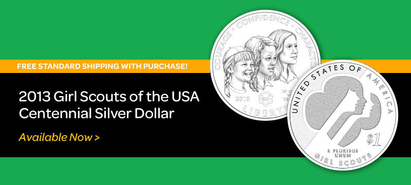 2013 Girl Scouts of the USA Centennial Silver Dollar