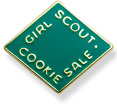 The Girl Scout Cookie Activity Pin 2011-2012