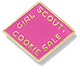 The Girl Scout Cookie Activity Pin 2013-2014