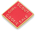 The Girl Scout Cookie Activity Pin 2015-2016