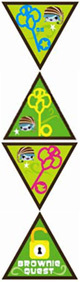 Brownie Journey Award Patch Set