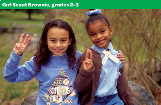 Girl Scout Brownie, grades 2-3